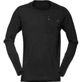 Norrøna Skibotn Wool Equaliser Longsleeve Shirt Heren, caviar